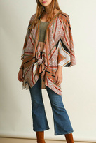 Umgee USA Orange Patterned Kimono