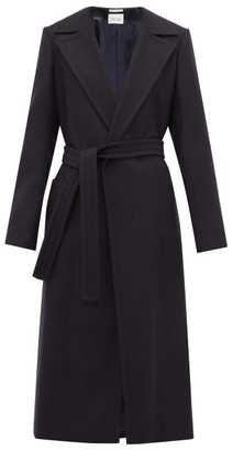 Pallas X Claire Thomson-jonville - Franklin Single-breasted Wool-blend Coat - Womens - Navy