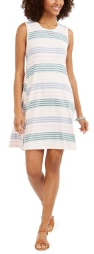 Style&Co. Style & Co Striped Sleeveless Swing Dress, Created for Macy's