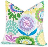 Crayola Pointillist Pansy 17-Inch Square Throw Pillow