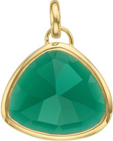Monica Vinader Siren 18ct gold-plated onyx pendant