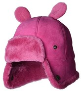 UGG Water Resistant Sheepskin Trapper with Ears Hat (Toddler/Little Kids) (Fuchsia) Caps