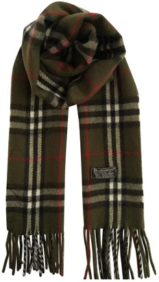 Burberry Green Wool Scarves