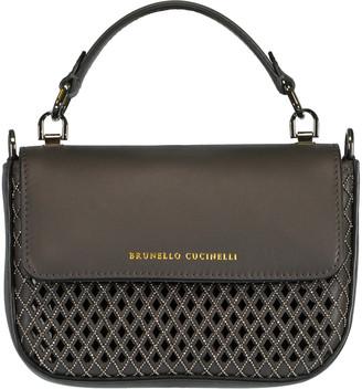 Brunello Cucinelli Top Handle Laser Cut Mini Bag