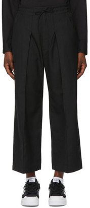 Y-3 Black Classic Wool Cropped Trousers