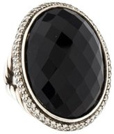 David Yurman Diamond & Onyx Ring