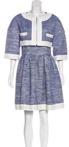 Chanel Embroidered Dress Set