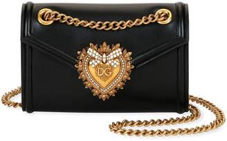 Dolce & Gabbana Devotion Mini Leather Crossbody Bag