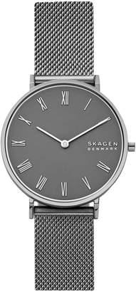 Skagen Hald Gunmetal-Tone Stainless Steel Bracelet Watch