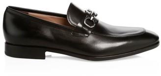 Salvatore Ferragamo Benford Gancini Leather Loafers