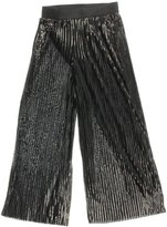 Alfani Womens Metallic Pleated Palazzo Pants Black XL