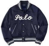 Ralph Lauren Girls' Satin Baseball Jacket - Sizes S-XL