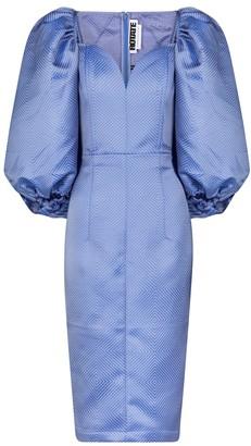 Rotate by Birger Christensen Irina jacquard midi dress