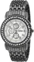 XOXO Women's Gun-metal Bracelet With Rhinestones Accent Watch XO5335