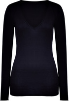 Closed Navy Cotton-Silk-Cashmere V-Neck Pullover