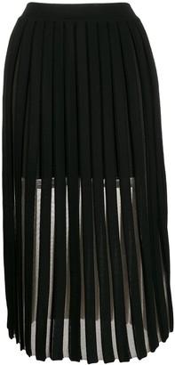 Balmain Layered Pleated Midi Skirt