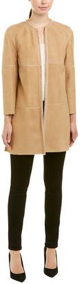 Lafayette 148 New York Petite Nancy Leather & Shearling Jacket