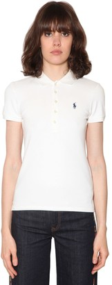 Polo Ralph Lauren Logo Detail Cotton Pique Polo Shirt