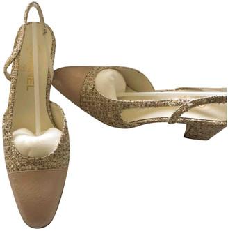 Chanel Slingback Pink Tweed Heels