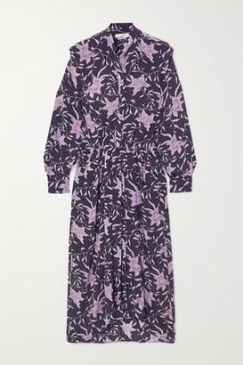 Etoile Isabel Marant Okley Floral-print Crepe Midi Dress