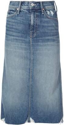 Mother The Swooner denim skirt