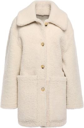Tory Burch Oliver Reversible Shearling Coat