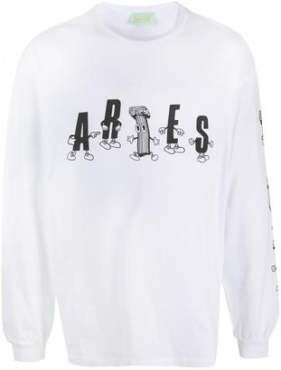 Aries Colums cartoon-print cotton T-shirt