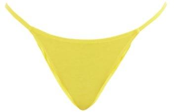 Thumbnail for your product : Araks Bisoux Cotton-blend Brazilian Briefs - Yellow