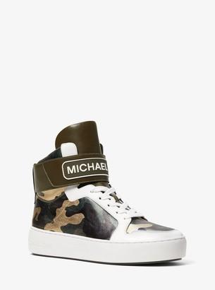 MICHAEL Michael Kors Trent Metallic Camo High-Top Sneaker