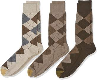 Gold Toe Men's Big and Tall Carlyle Argyle Socks 3-Pack