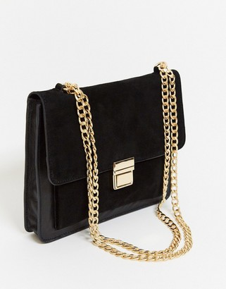 Urban Code Urbancode leather cross body bag with hardware in black