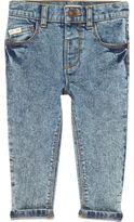 River Island Mini boys blue acid wash skinny jeans