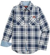 7 For All Mankind Cotton Flannel Button Down Shirt (Little Boys)