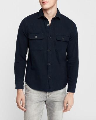 Express Slim Twill Shirt Jacket