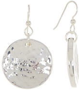 Simon Sebbag Sterling Silver Round Textured Disc Drop Earrings