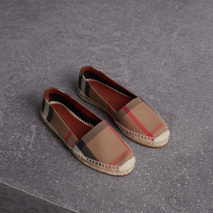 Burberry Check Linen Cotton Espadrilles