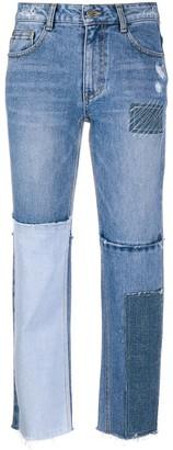 Sjyp Patchwork Jeans