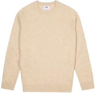 NN07 Cream Melange Wool Jumper