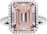 Rochester Jan Logan 18ct Pink Morganite Diamond Ring