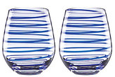 Kate Spade Charlotte Street Spiral Stemless Wine Glass Pair