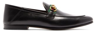 Gucci Brixton Collapsible-heel Leather Loafers - Mens - Black