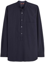Barena Navy Cotton Shirt