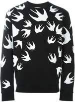 McQ swallow print sweatshirt