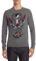 Valentino Regular-Fit Tattoo Cashmere Sweater
