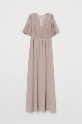H&M Long Dress with Lace Details