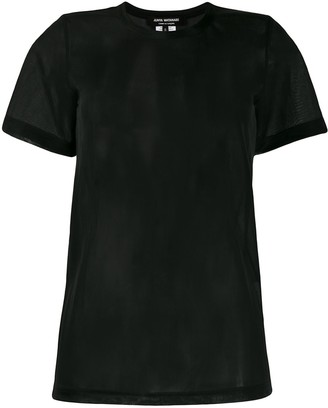 Junya Watanabe short sleeve sheer panel T-shirt