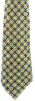 Hermes Interlocking Circles Print Silk Tie
