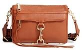 Rebecca Minkoff Mini MAC Leather Crossbody Bag With Guitar Strap - Brown