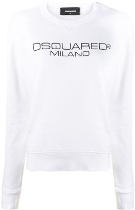 DSQUARED2 logo print sweatshirt