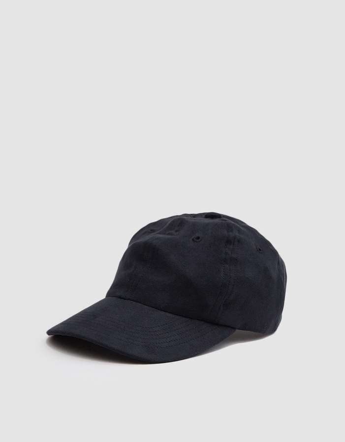 Norse Projects Fake Suede Sports Cap in Black